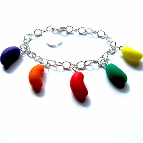 Kitsch Faux Jelly Bean Multicolour Clay Charms Bracelet