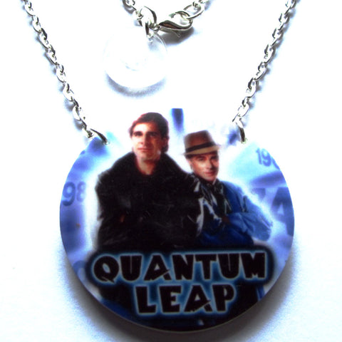 Quantum Leap TV Circular Acrylic Pendant Necklace