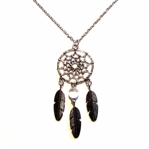 Dreamcatcher Bead Feathers Pendant Necklace