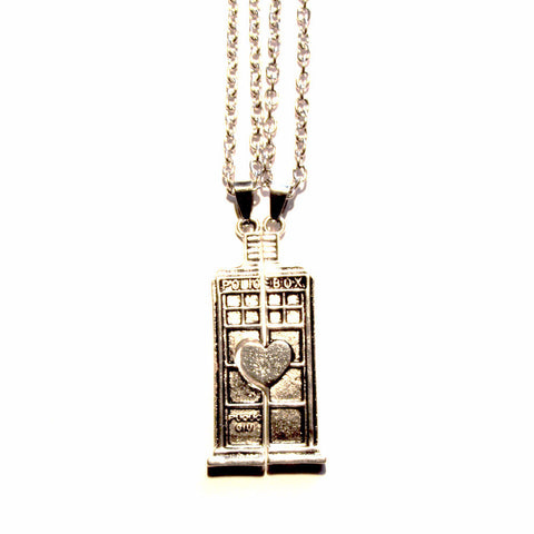 Doctor who police box inspired couple friends double love pendants doctor who police box inspired double couple friends love pendants aloadofball Images