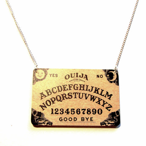 Amazing Ouija Board Acrylic Pendant Necklace
