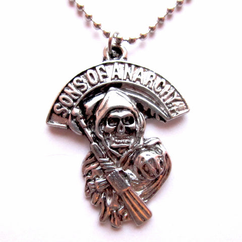 TV Sons of Anarchy Skull Symbol Pendant Necklace
