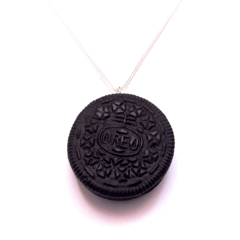 Amazing Oreo Cookie Biscuit Clay Pendant Necklace
