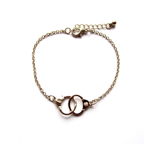 Golden Dainty Handcuff Chain Bracelet