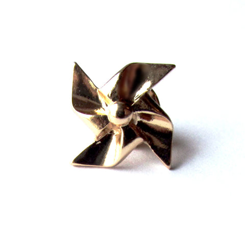 Cute Golden Pinwheel Fashion Pin Badge