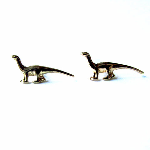 Ditsy Dainty Diplodocus Dinosaur Stud Earrings