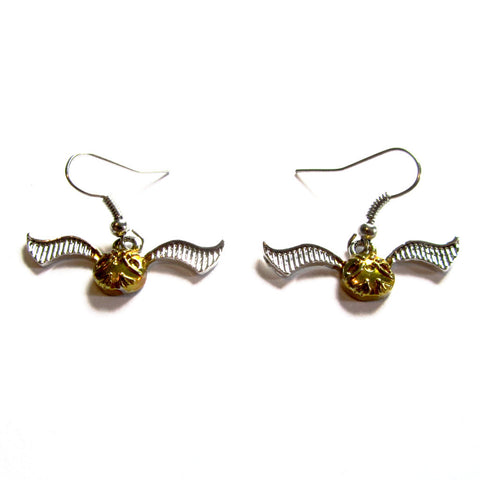 Harry Potter Inspired Quidditch Snitch Drop Earrings