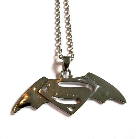 Batman Superman Symbol Pendant Necklace