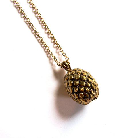 Game of Thrones Golden Dragon Egg Pendant Necklace