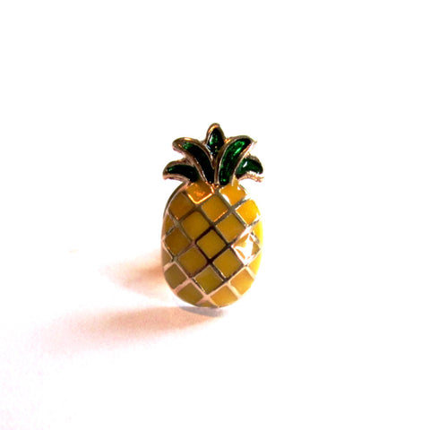 Cute Pineapple Ditsy Pin Badge