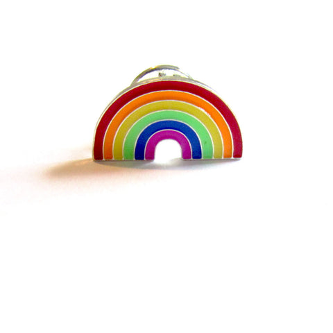 DIY Fashion Wonderful Rainbow Ditsy Pin Badge