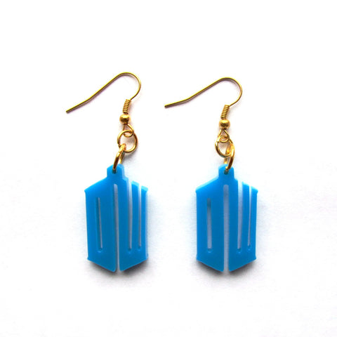 Doctor Who DW Acrylic Drop Earrings