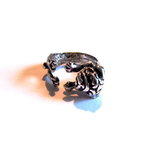 Sweet Pug Dog Wrap-Around Ring