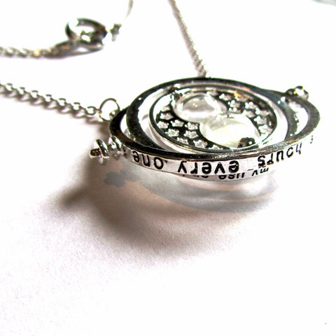Harry Potter Hermione Silver Time Turner Style Necklace