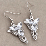 LOTR Arwen Evenstar Style Silver Earrings