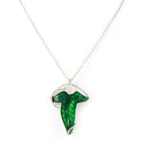 Lord of the Rings Hobbit Style Elven Leaf Brooch Necklace