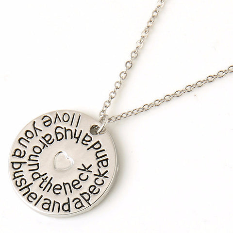Sweet 'I Love You a Bushel and a Peck and a Hug Around the Neck' Pendant