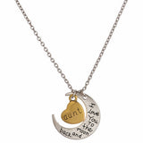 I Love You to the Moon and Back Aunt Necklace