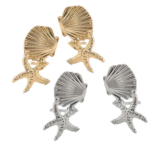 Dinky Ditsy Starfish Oyster Shell Stud Earrings