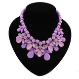 Fabulous Plastic Acrylic Bead and Gems Colourful Necklace (PURPLE)