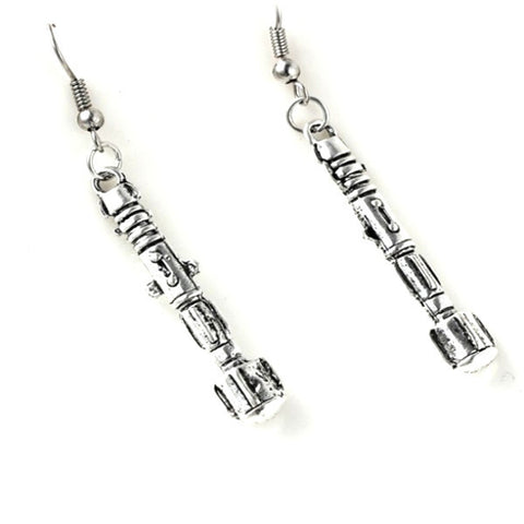 Doctor Who Sonic Screwdriver Style Drop Earrings