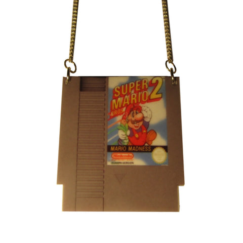 Large Retro Super Mario 2 NES Classic Game Pendant