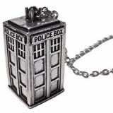 Doctor Who TARDIS Style Silver Pendant Necklace