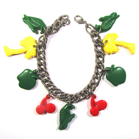 Retro Fun Tropical Charms Bracelet