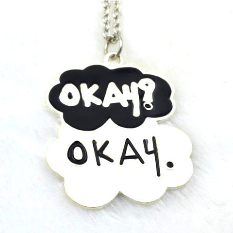 Fault In Our Stars Style Okay Pendant