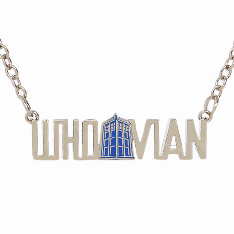 Whovian Doctor Who TARDIS Word Necklace