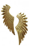 Golden Angel Wings Stud Earrings