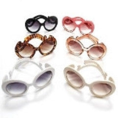 Swirl Retro Style Sunglasses in Various Colours