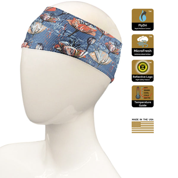 Acid Wash Floral Headband