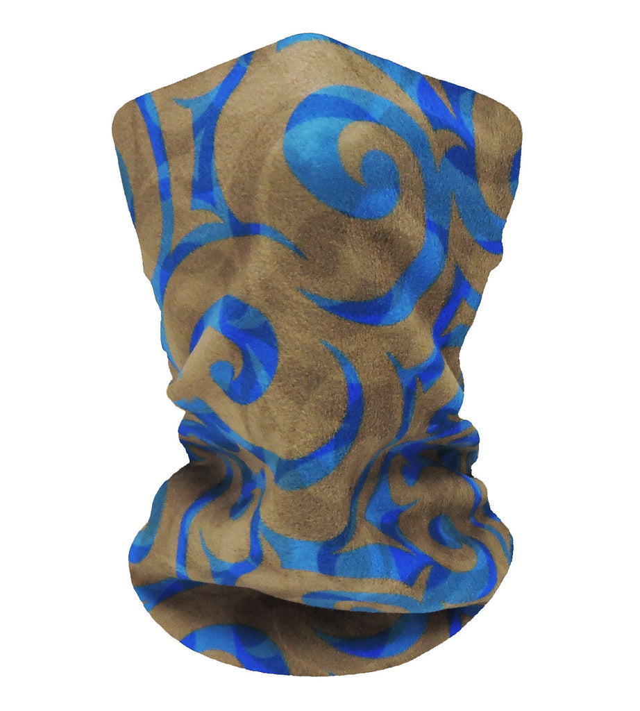 Blue-Grey Swirls Neckwarmer