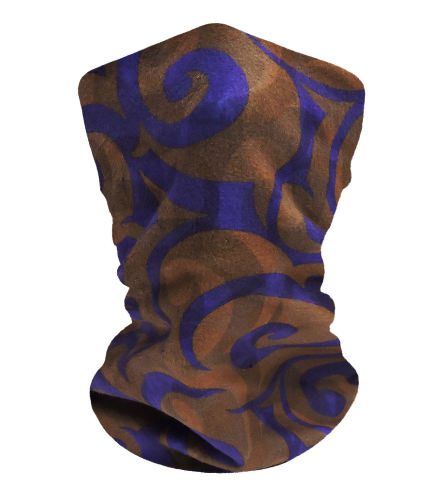 Chocolate-Grape Swirls Neckwarmer