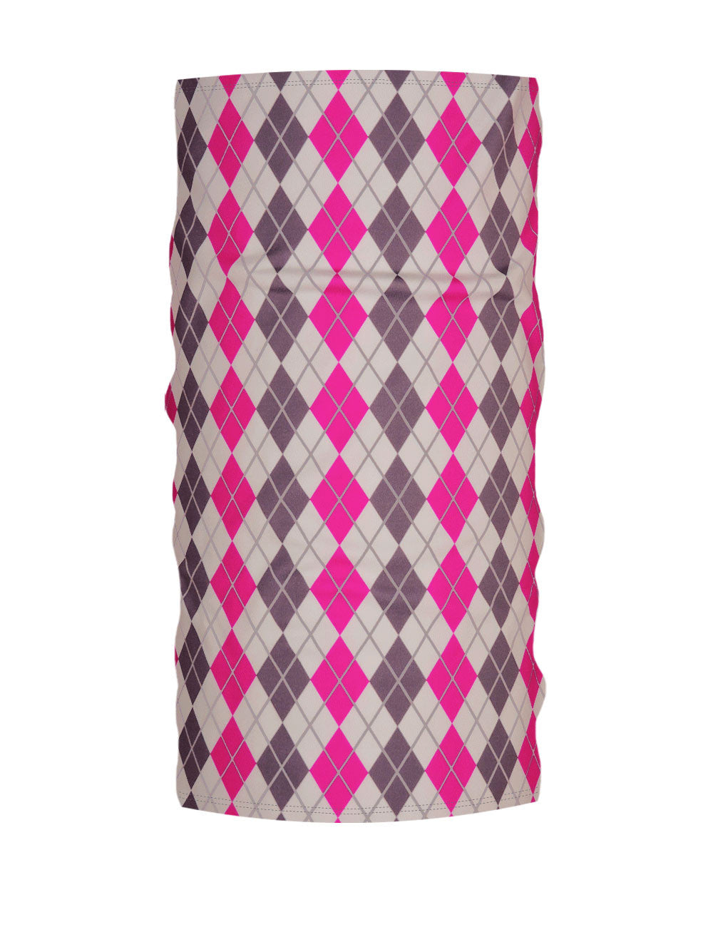 Pink-Grey Argyle WinterTube™