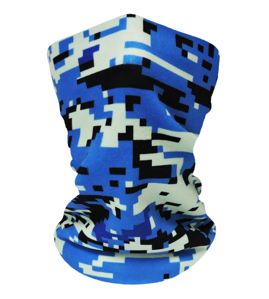 Digital Camo Blue-Black Neckwarmer