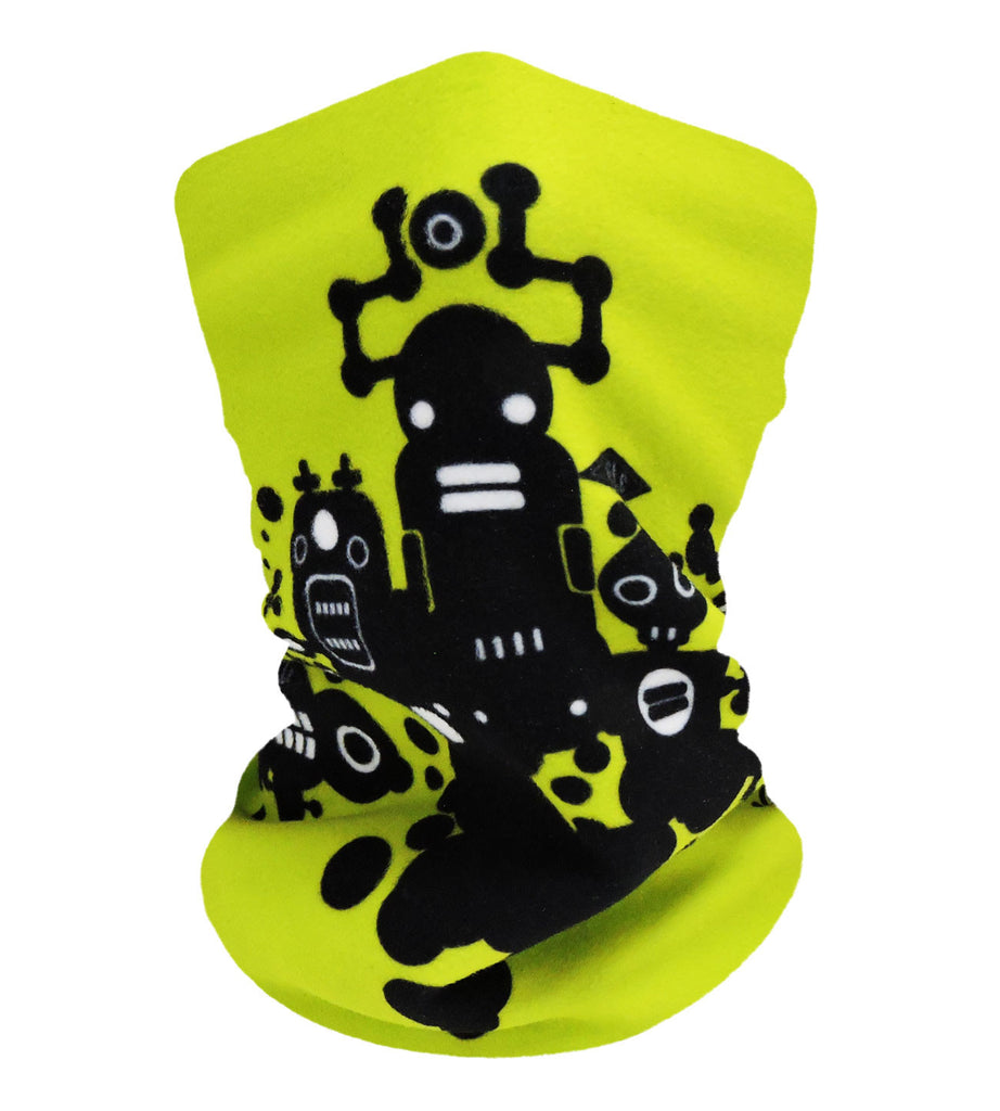 Mr Robotto Lime Neckwarmer