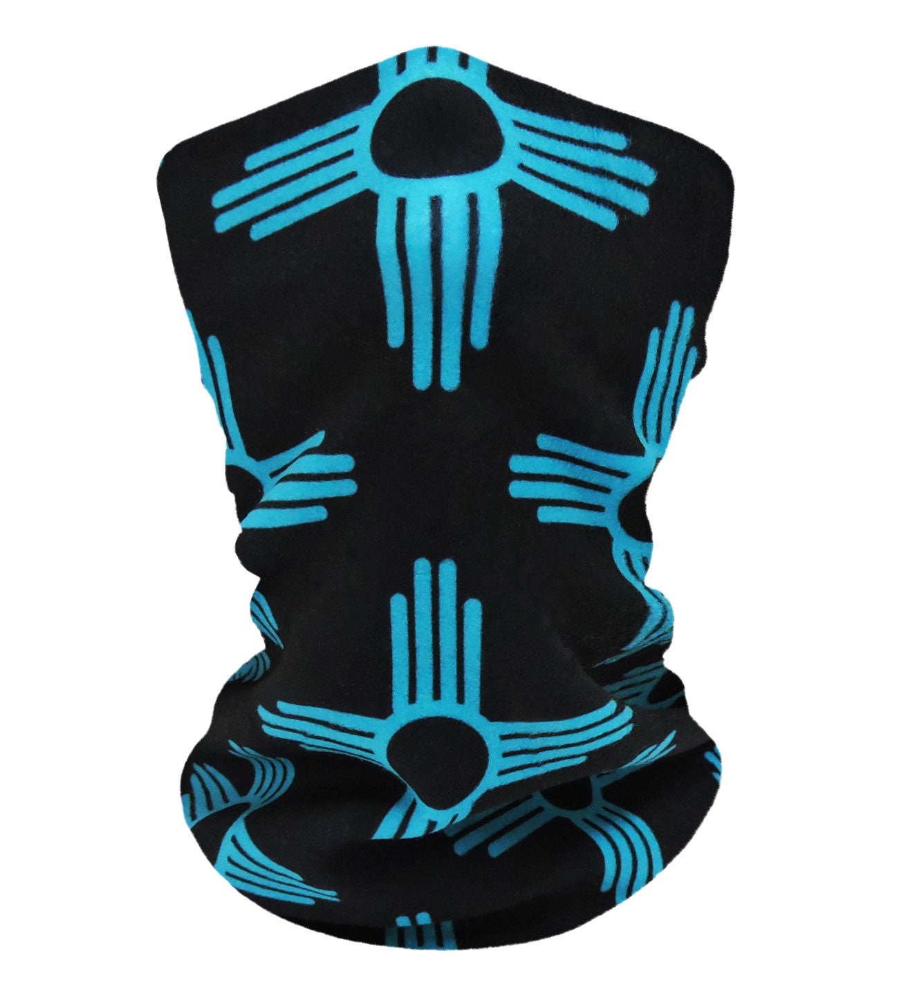 New Mexico Black/Teal Neckwarmer