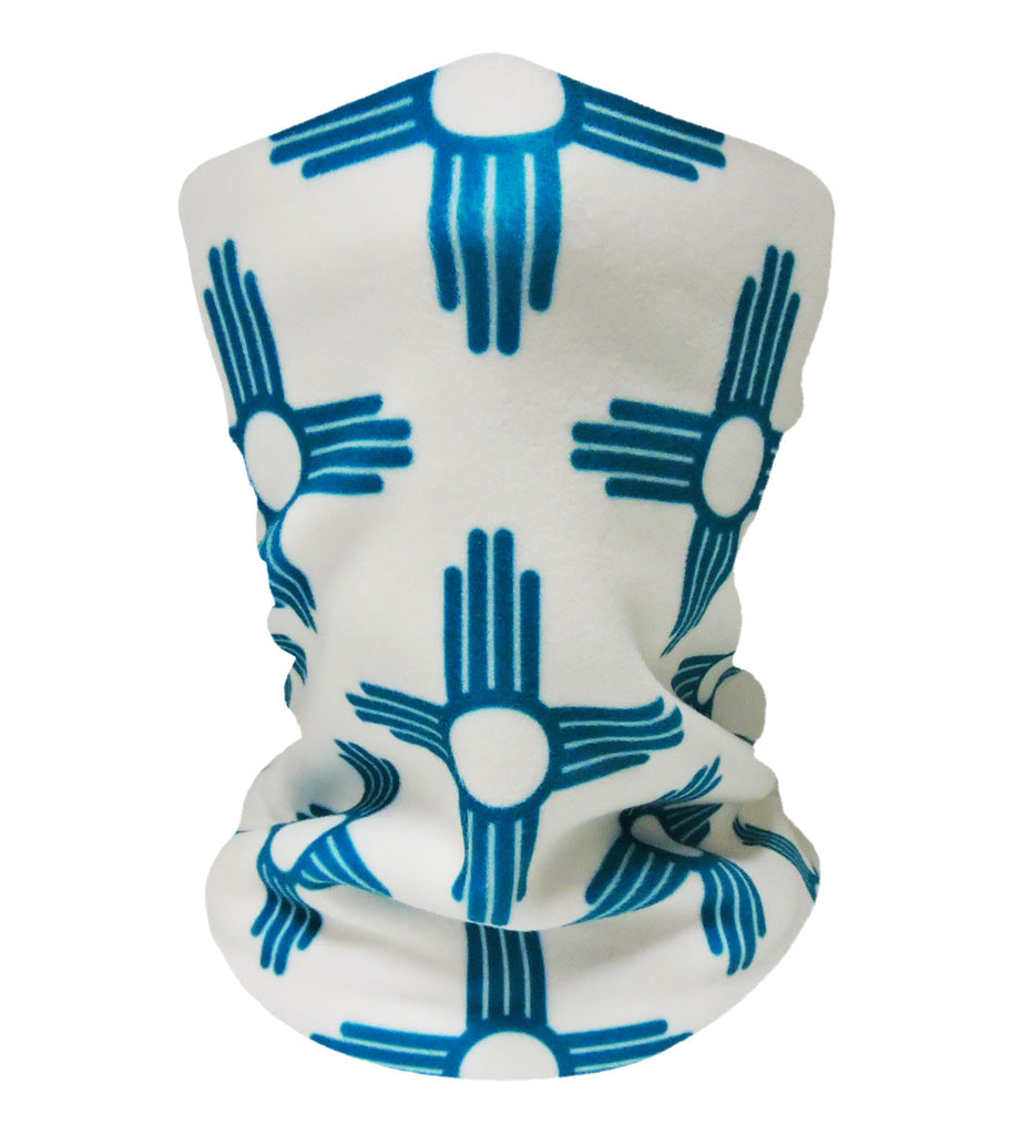 New Mexico White/Teal Neckwarmer