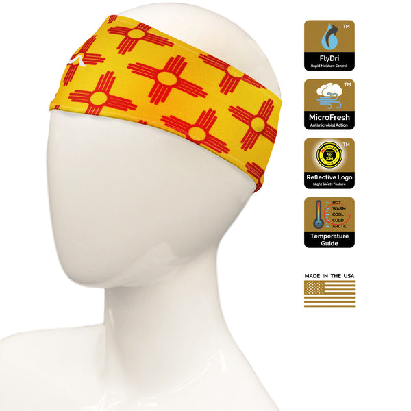 New Mexico Zia Gold/Red Headband