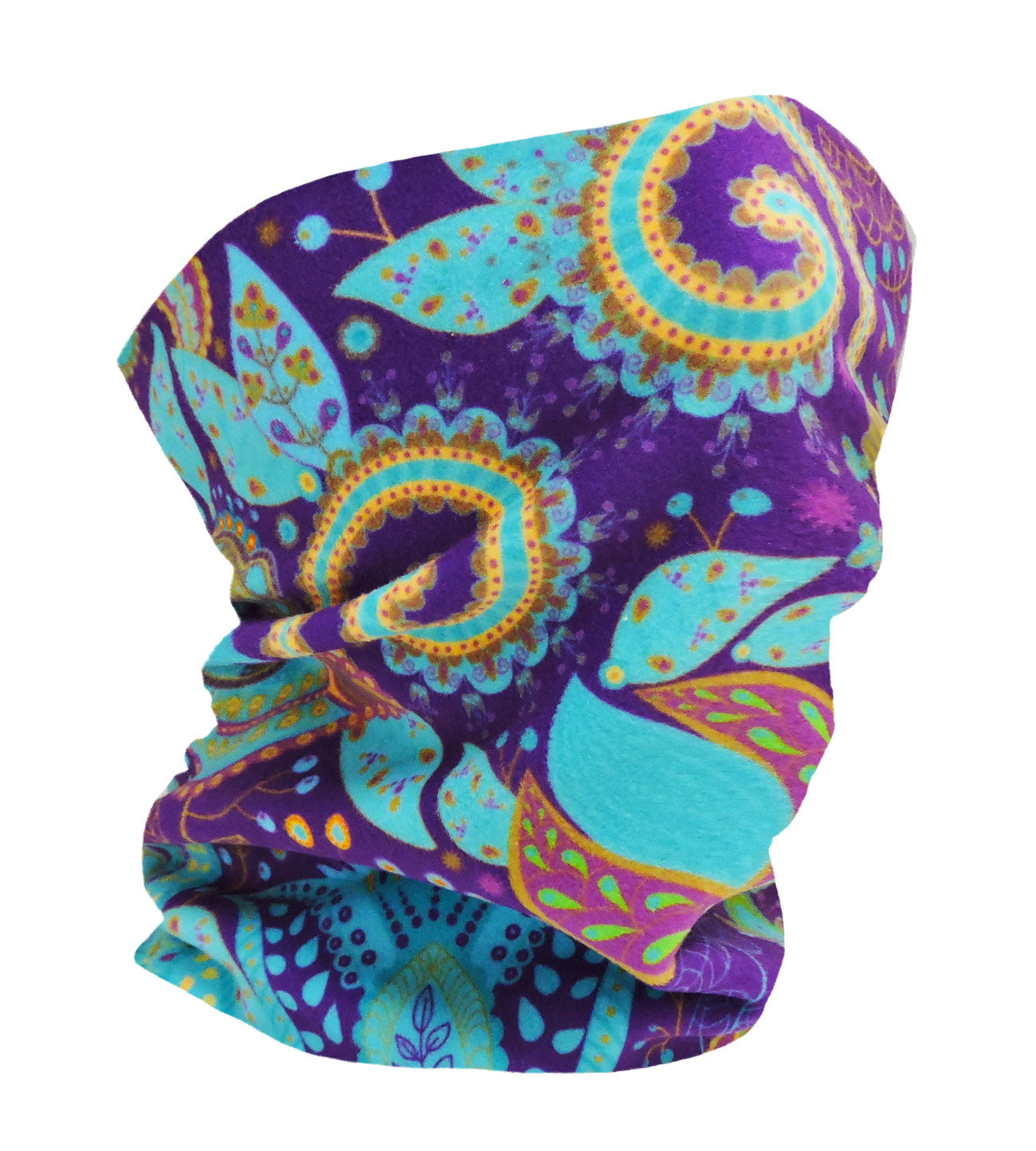 Orchid Paisley Flower Neckwarmer