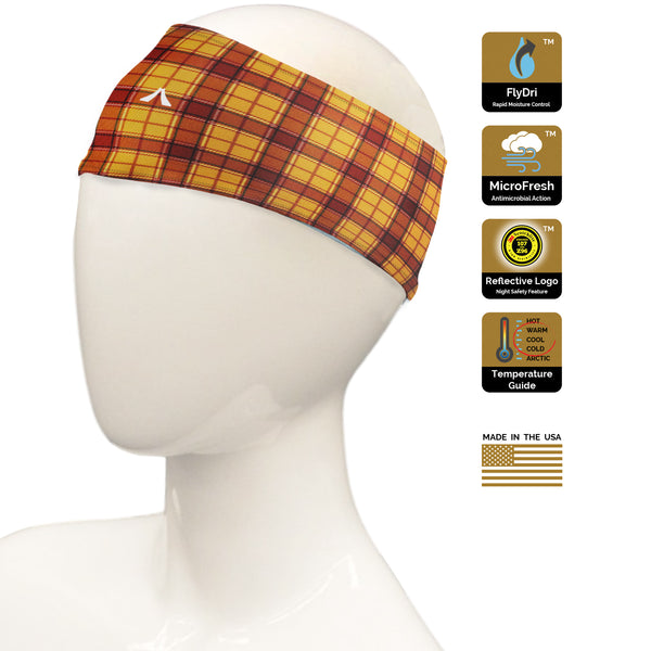 Pumpkin Plaid Headband