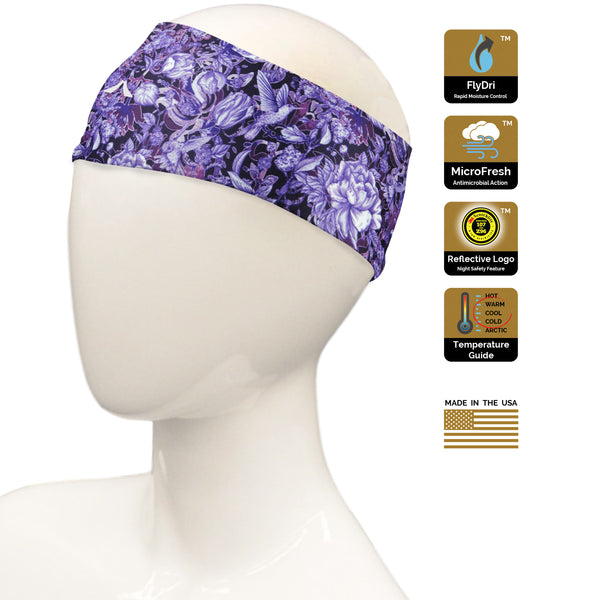 Violet Hummingbird Headband