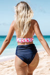 Tropical High Waist Halter Bikini Set