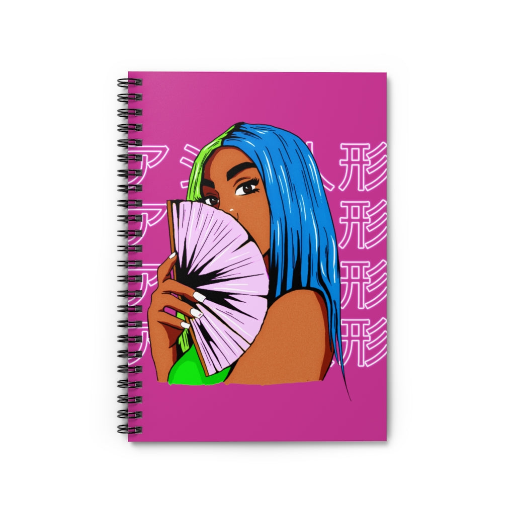 Dual Haired Girl Notebook