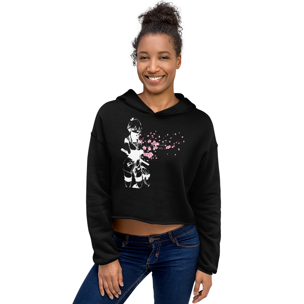 Assassin's Sakura Assassin Cropped Hoodie