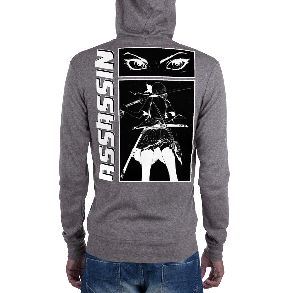 Assassin's Black Manga Strip Hoodie