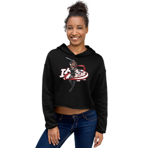 Assassin's Ninja Girl Cropped Hoodie