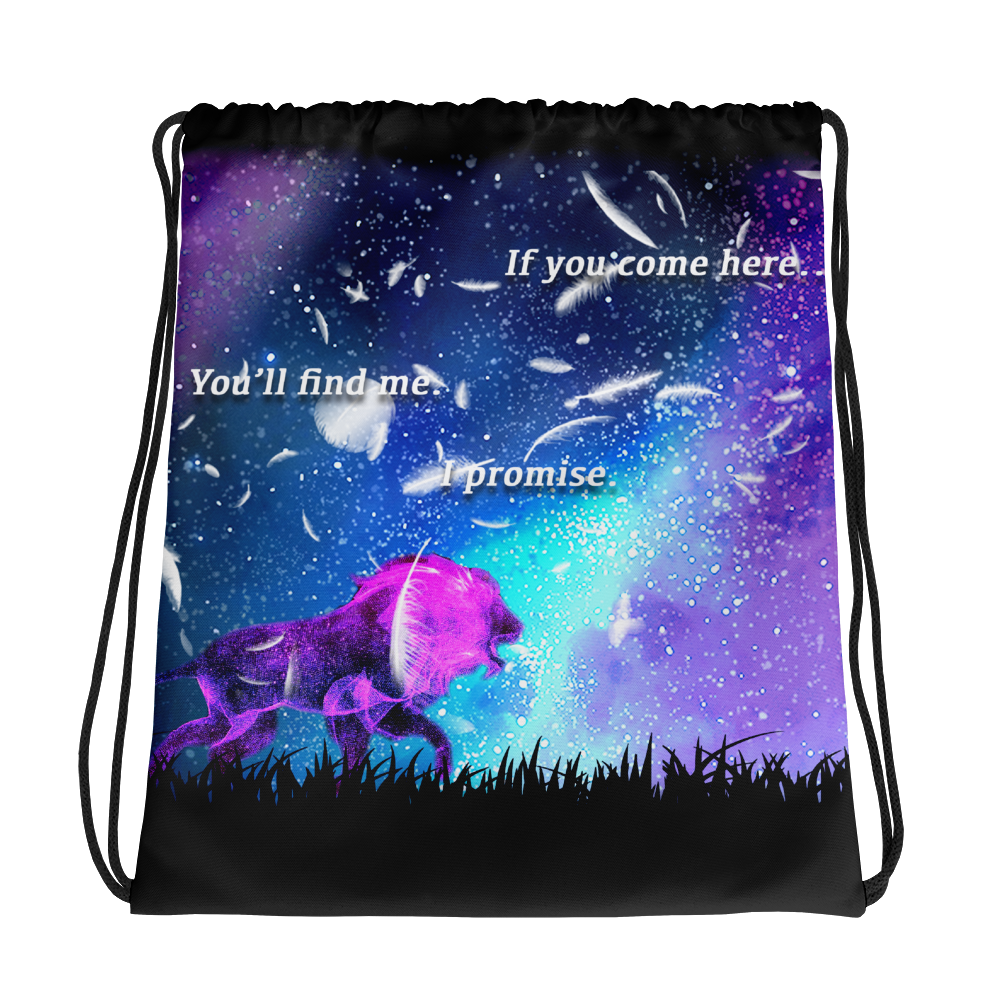 Drawstring bag - Lion Looking for his Lover